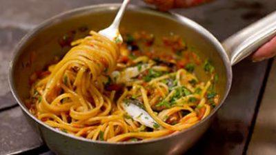 Spaghettini puttanesca