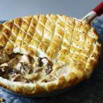 Chicken and wild mushroom frying pan pie