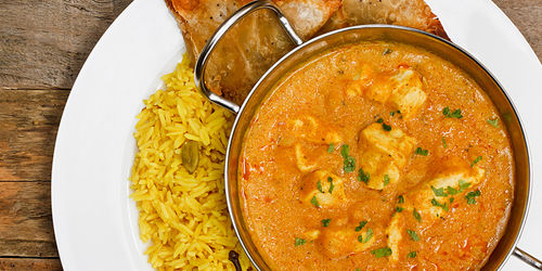 Chicken and cashew nut curry with jasmine rice