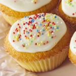fairy cake recipe - fairy cake with hundreds and thousands