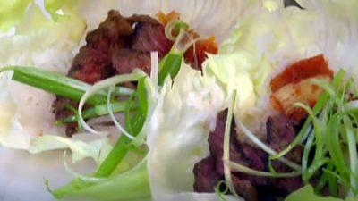 Korean grilled beef short ribs (galbi gui)