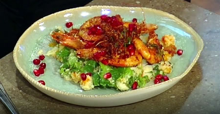Spicy prawns Moroccan-style
