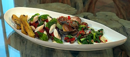 Clams, crab, chorizo and chilli