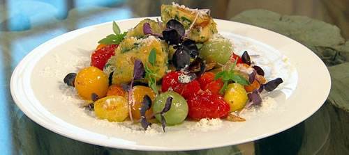 Cheat's ricotta and cherry tomato gnocchi