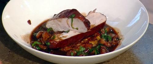Chicken supreme au vin bourguignon