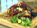 Nine-hour pork shoulder with pineapple relish