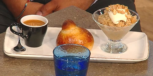 Sicilian brioche with almond granita