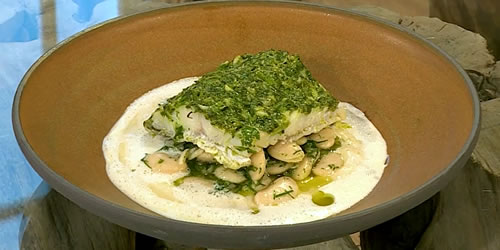 Smoked haddock with butterbean purée