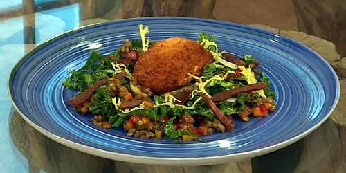 Puy lentil and tofu salad