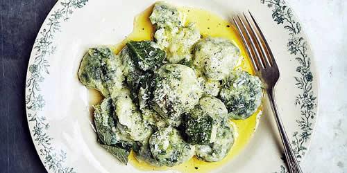 Spinach and ricotta malfatti