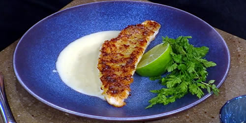 Gurnard fillets with horseradish crust