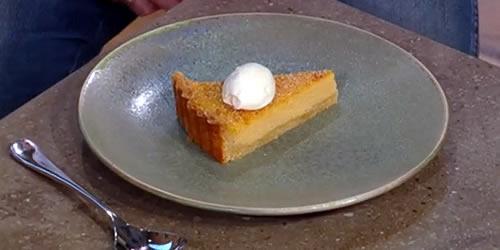 Pumpkin and amaretto pie