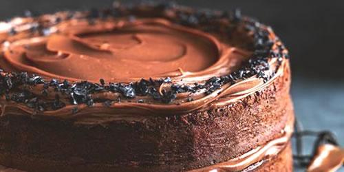 Salted chocolate cake