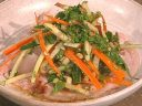 Pork rack with Asian salad