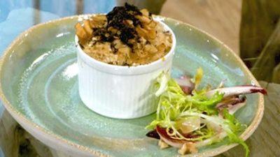 Jerusalem artichoke and black truffle risotto
