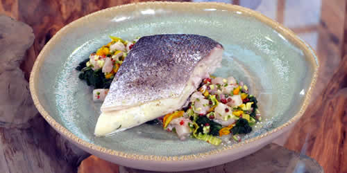Steamed sea bream with scallop mousse