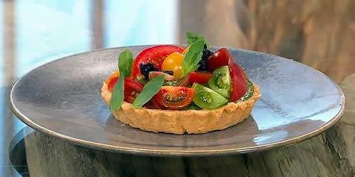 Tomato and Parmesan tart