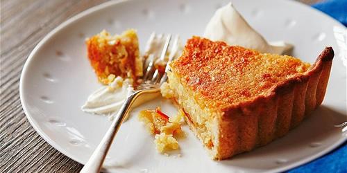 Almond and orange tart