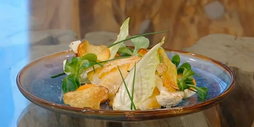 Smoked haddock with cauliflower and leeks