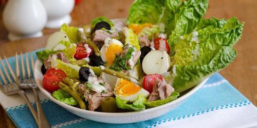 Spiced tuna salad Niçoise