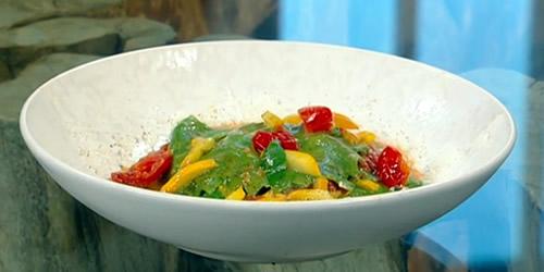 Ricotta and fennel spinach ravioli